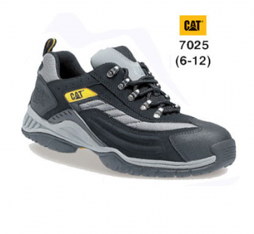 Caterpillar Moor Black/Silver Lightweight Trainer 7025
